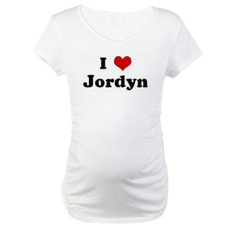 I Love Jordyn Maternity T-Shirt