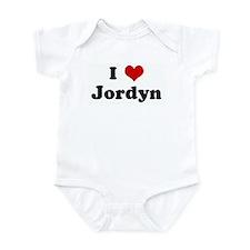 I Love Jordyn Infant Bodysuit