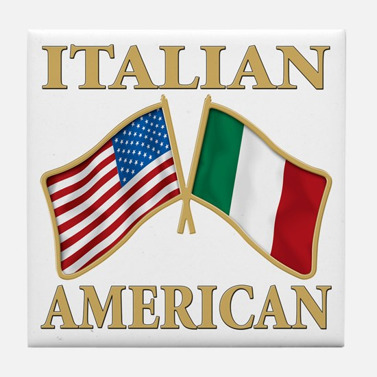 Italian american Pride Tile Coaster