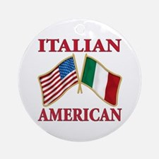 Italian american Pride Ornament (Round)