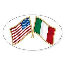 Italian american Pride Oval Sticker (10 pk)