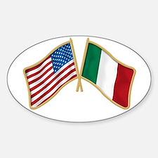 Italian american Pride Oval Decal