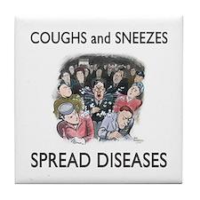 Swine Flu Tile Coaster
