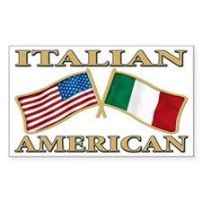 Italian american Pride Rectangle Decal
