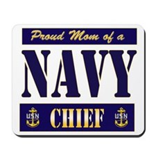 Chief's Mom Block Style Mousepad