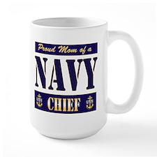 Chief's Mom Block Style Mug