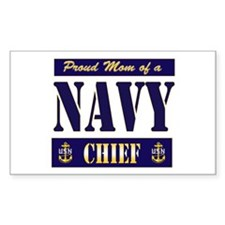 Chief's Mom Block Style Rectangle Decal