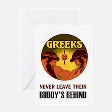 GREEKS Greeting Card