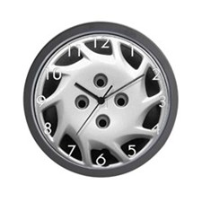 Hubcap Wall Clock