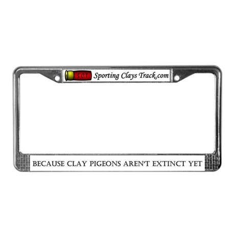 sporting clays track license plate frame by sportingclays. Black Bedroom Furniture Sets. Home Design Ideas