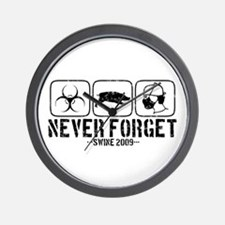 Never Forget - Swine 2009 Wall Clock