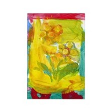 Flower Fun Rectangle Magnet