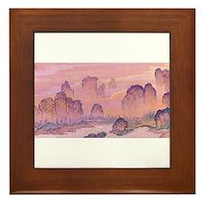 Karst Mountains Framed Tile