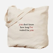 Cute Twilight breaking dawn no measure of time with you Tote Bag