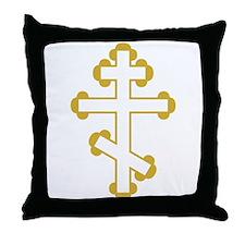 Orthodox Bottony Cross Throw Pillow