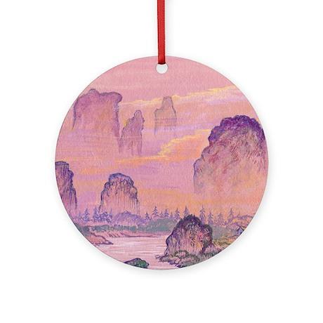 Chinese Waterfall Ornament (Round)