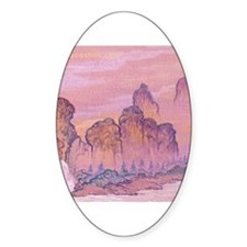 Chinese Scape Oval Decal