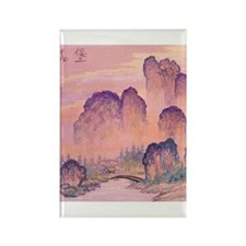 Chinese Mountains Rectangle Magnet