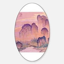 Chinese Mountains Oval Decal