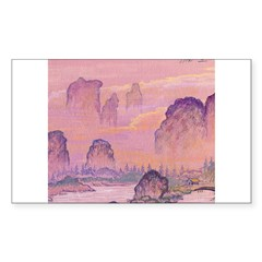 Chinese Sunrise Rectangle Decal