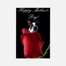 Happy Mother's Day Boston Terrier Rectangle Magnet