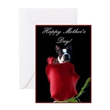 Happy Mother's Day Boston Terrier Greeting Card