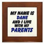 my name is dane and I live with my parents Framed