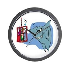 Here Fishy Fishy! Wall Clock