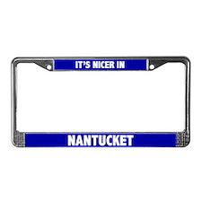 """""""Nicer in Nantucket"""" License Frame"""