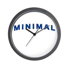 Minimal Damaged Blue Wall Clock