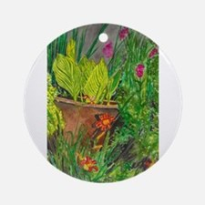 Canna in the Midst Ornament (Round)