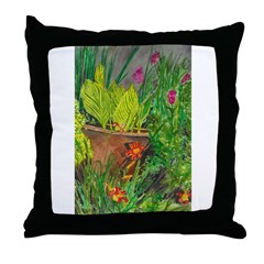 Canna in the Midst Throw Pillow