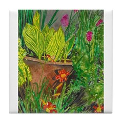 Canna in the Midst Tile Coaster