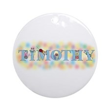 """Timothy"" with Mice Ornament (Round)"