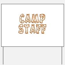Camp Staff Yard Sign