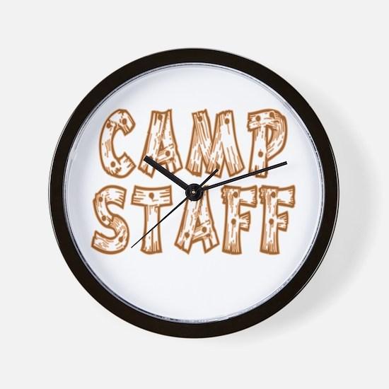 Camp Staff Wall Clock