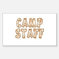 Camp Staff Rectangle Decal