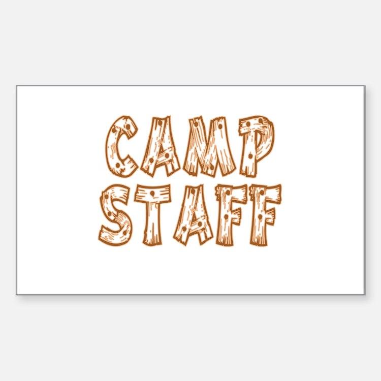 Camp Staff Rectangle Sticker 10 pk)
