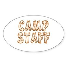 Camp Staff Oval Sticker (50 pk)