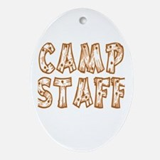 Camp Staff Oval Ornament