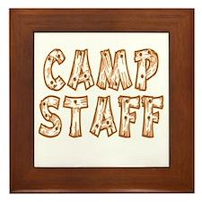 Camp Staff Framed Tile