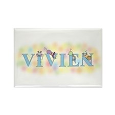 """""""Vivien"""" with Mice Rectangle Magnet"""