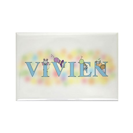 """Vivien"" with Mice Rectangle Magnet"