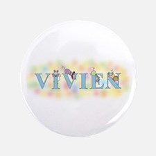 """Vivien"" with Mice 3.5"" Button"