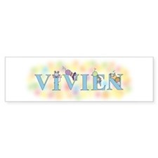 """Vivien"" with Mice Bumper Car Sticker"