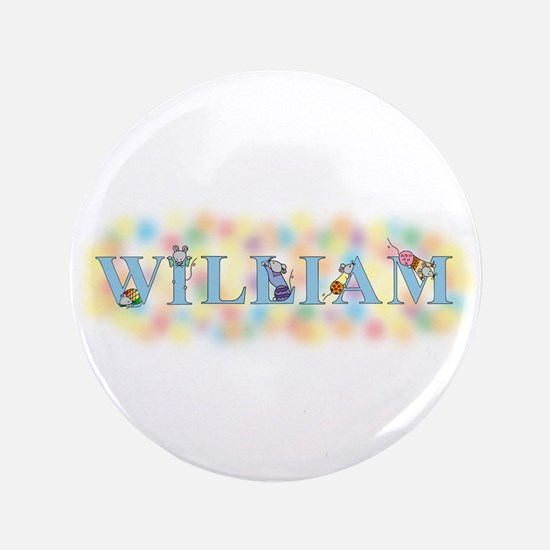 """""""William"""" with Mice 3.5"""" Button"""