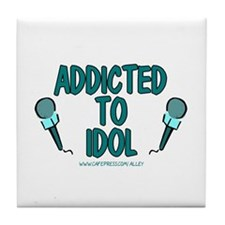 Addicted To Idol Tile Coaster