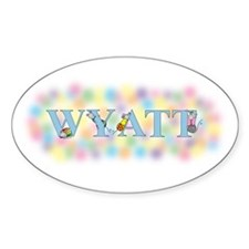 """Wyatt"" with Mice Oval Decal"