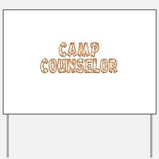 Camp Counselor Yard Sign