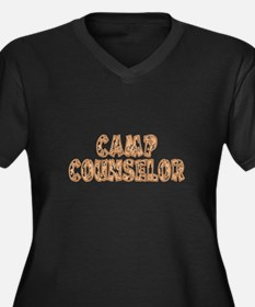 Camp Counselor Women's Plus Size V-Neck Dark T-Shi